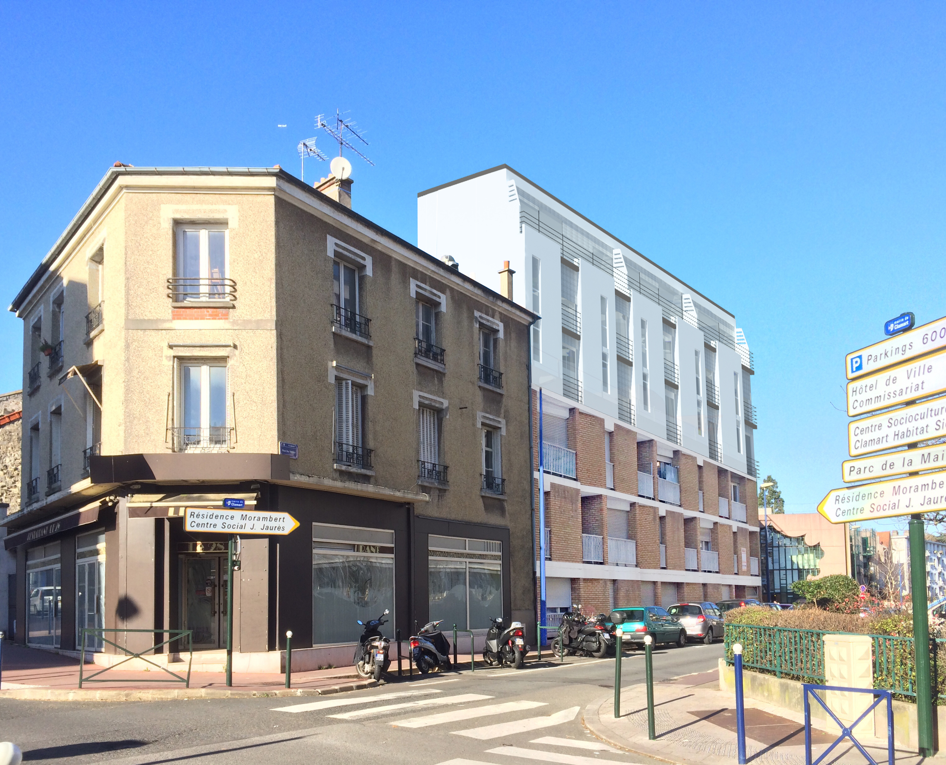 appartements en surélévation à Clamart