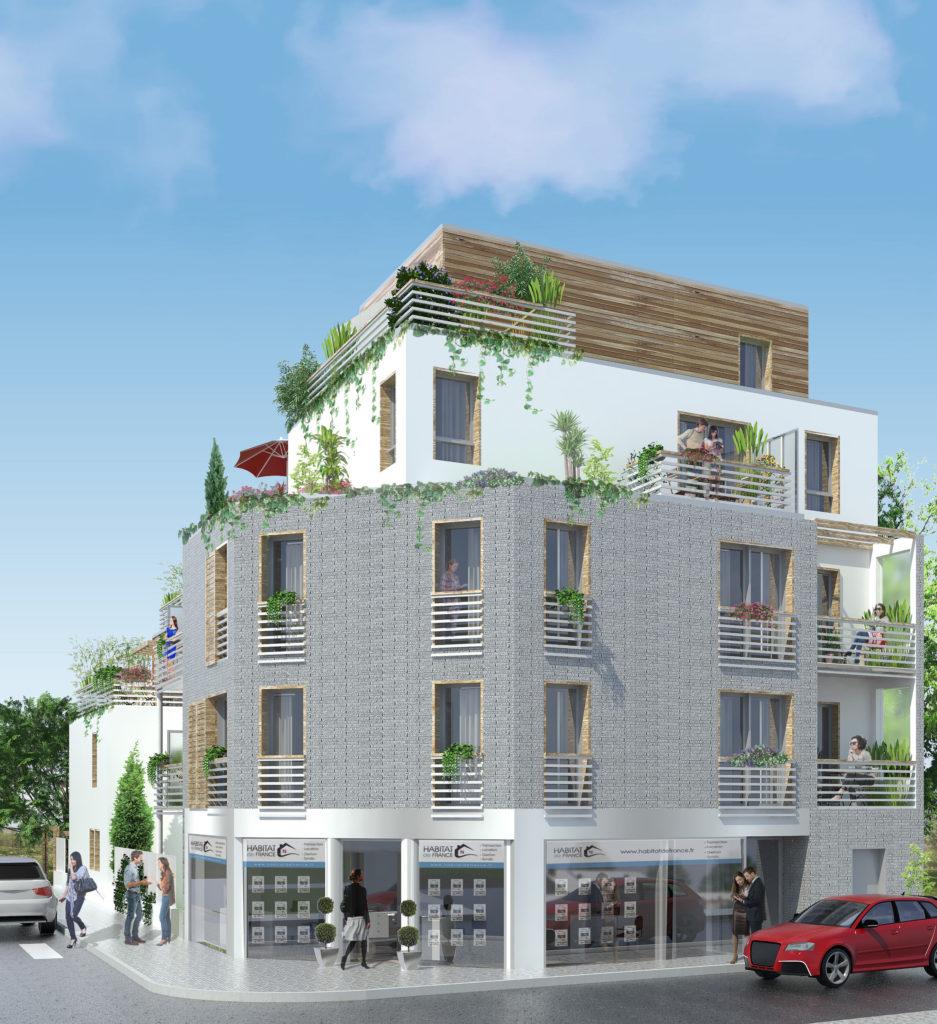 """BONDY  logements neufs : """"Le Petit Château"""" - Les travaux commencent ! livraison mi 2020"""